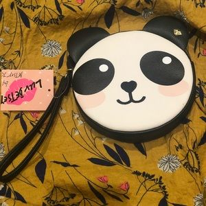 NWT Betsey Johnson panda purse / wristlet